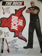 WWE WRESTLER THE ROCK FATHEAD LARGE REUSABLE VINYL WALL GRAPHICS,NEW