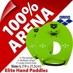 Arena Elite Hand Paddles Senior (Size L) Front Crawl Swim Aid Swimming Training