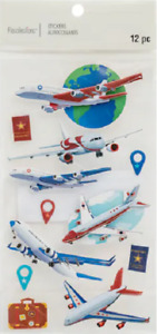 Recollections JETS Stickers Vacation Travel Airplanes Planes Airport Luggage