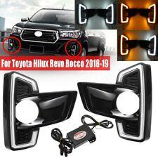 Pair DRL Daytime Running Light Fog Lamp For Toyota Hilux Revo Rocco 2018-2019