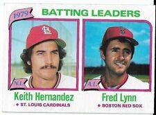 1980 Topps #201 Batting Ldrs Keith Hernandez/Fred Lynn Cardinals/Red Sox
