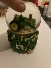 "Enesco John Deere Old MacDonald Had A Farm Musical Snow Water Globe 6"" Tall"