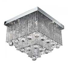 SEARCHLIGHT BEATRIX 5 LIGHT CRYSTAL SQUARE CEILING FLUSH IN CHROME 6055-5CC