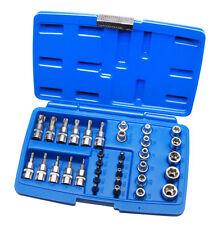 34 tlg Außen Torx Nüsse Innentorx Nuss Steckschlüssel Bits Bit Werkzeug T-Profil