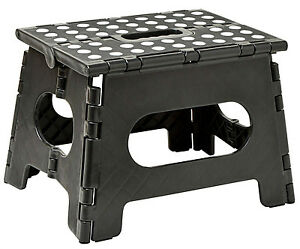 """Folding Step Stool - Enough to Support Adults and Safe Enough for Kids. 11"""" Wide"""