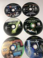6 Game Lot Star Wars Discs Microsoft Xbox Game Tested - Discs Only