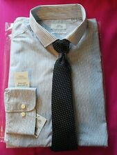 """NEXT Shirting Men's Stripped Shirt with Tie Regular Fit UK Size 15"""" BNWT"""