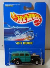 Hot Wheels All Blue Card '40's Woodie collector #217