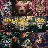 DIY Animals Flower 5D Diamond Painting Full Drill Home Decors Embroidery Art Kit