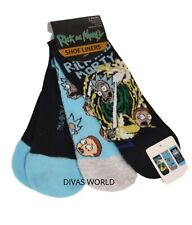 Rick And Morty Shoe Liners Ladies 3 Pairs Socks UK 4-8 Brand New Edition Primark