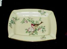 Lenox Serenade 24K Gold Trim Hand-Painted Ashtray Dish Red Finch on Branch Euc