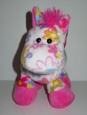 Fiesta Pick Me Horse Pony Plush Stuffed Animal Pink Purple White Flowers Dasiy