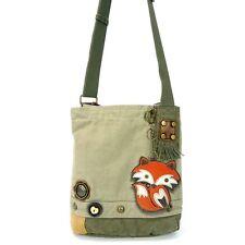 New Chala Handbag Patch Crossbody FOX Sand Brown Bag Canvas gift School Work