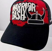 Reebok Warrior Dash Truckers Hat Mesh Sides Adjustable Snapback Hat Black