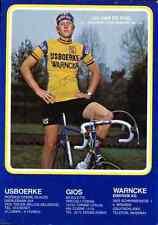 JOS VAN DE POEL IJSBOERKE WARNCKE 79 Signed Autographe cycling Signé autogramm