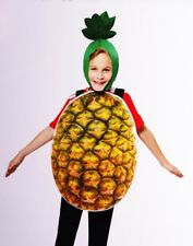Boys Girls Kids PINEAPPLE Halloween Purim Costume Fruit Funny Food S M L XL NEW