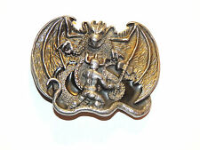 Bergamot 1982 Pewter Knight with Dragon Belt Buckle made in USA (12668)