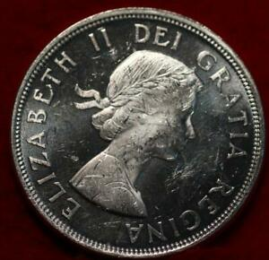 Uncirculated 1964 Canada Silver One Dollar Foreign Coin