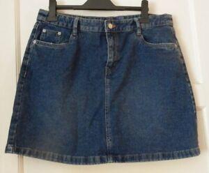 Ladies blue denim skirt UK 14 F&F