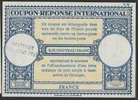 ✔️ COUPON REPONSE INTERNATIONAL 0,70 NOUVEAU FRANC FRANCE CHATENAY