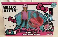 Hello Kitty Pink Light Up Heel Wheel Skates Adjustable Age 4+ New