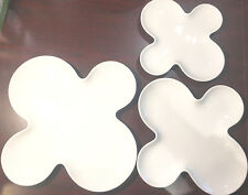 SET OF 3 Tognana Tendence 10-12-14 Inch Clover Plate NEW