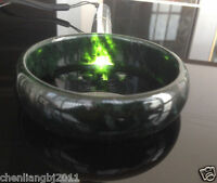 big size 100% Pure natural Chinese black jade hand-carved bracelet 56mm--64mm