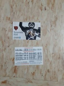 2014 Chicago Bears (National Football League) Chase Spanish card schedule