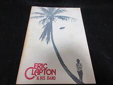 Eric Clapton 1974 Japan Tour Book Signed Copy ,Concert Program Cream Blind Faith