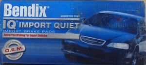 NEW BENDIX IQ IMPORT QUIET FRONT BRAKE PADS MKD253IQ / D253 FITS *SEE CHART*