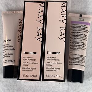 Lot Of 2 Mary Kay TimeWise Matte-Wear Liquid Foundation Ivory 5 #038754