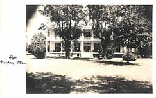 Natchez Mississippi Elgin Exterior Front View Real Photo Postcard V20726