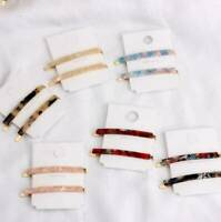 Colorful Acrylic Hair Clip Snap Barrette Stick Hairpin Bobby Hair Accessories