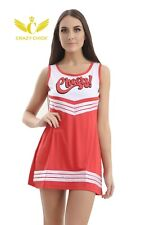 ADULT CHEERLEADER COSTUME CHEERS LEADER OUTFIT SQUAD FANCY DRESS HIGH SCHOOL