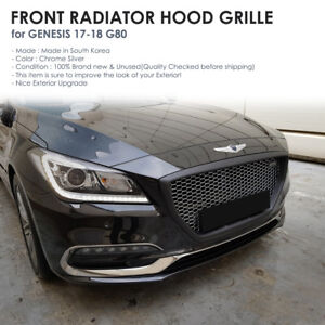 Chrome Front Radiator Hood Grille Molding For GENESIS 2017 - 2018 G80