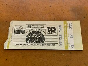 1988 Chicago Bulls v Supersonics Preseason Basketball Ticket Michael Jordan