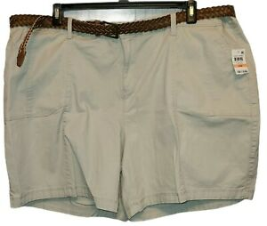 Style & Co. Khaki Mid Rise Shorts Size 24W NEW WITH TAGS!