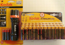 Kodak Xtralife Alkaline Batteries (AA-36 Pk) Exp. 2026 + Free LED Flash light