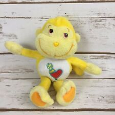 "Playful Heart Care Bear Cousins Monkey Yellow 8"" Plush Stuffed Animal A3"