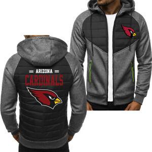 Arizona Cardinals Hoodie Classic Autumn Hooded Sweatshirt Jacket Coat Top Tops