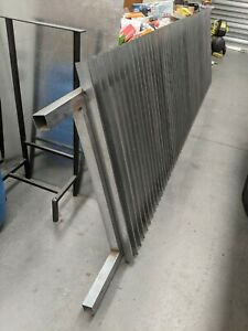 Galvanised Fin Gate 385 wide x 105 high