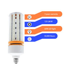 150W Eq. E26 60W Led Corn Light Bulbs Daylight 5000K Laundry Garage Street Lamp