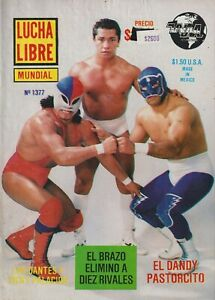 Lucha Libre Mundial #1377 Mexican Wrestling 1990 (Blue Panther) Good Spanish