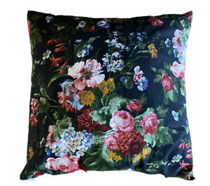 "Ralph Lauren Home Isadora Cosette Black Floral Custom Throw Pillow 20"" Square"
