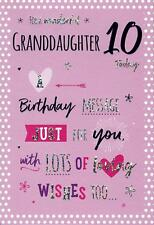 Amazing For A Wonderful Granddaughter 10 Today Birthday Card