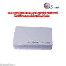 50 Pcs 125KHz RFID ID card, proximity ISO card, EM4100 compatible cards, 0.8mm