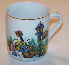 Smurf MUG: Merry Christmas 1982 - THE SMURF CAROLERS (1st of a Limited Edition)