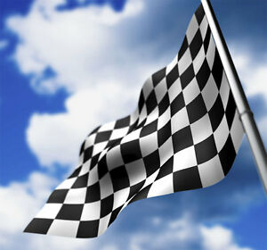 Nascar checkered flag NEW 3X5 ft SPORTS BANNER better quality usa seller