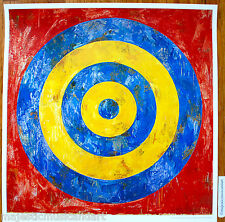 LARGE JASPER JOHNS TARGET 2007 ORIGINAL LONDON GALLERY POSTER POP ART MINT