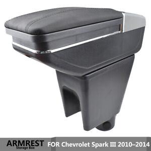 Black Armrest For Chevrolet Spark 2010–2014 Arm Rest Storage Box Modification